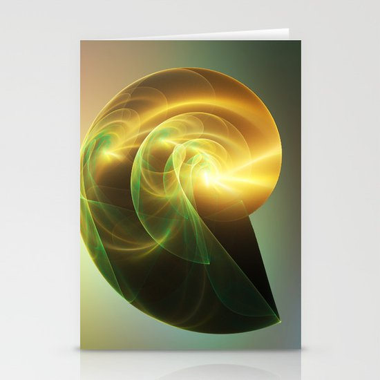 Golden Shell Stationery Card