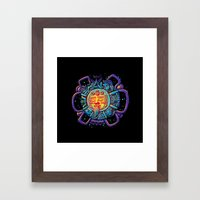 Aztec Sun Framed Art Print