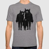 NEVER ALONE Mens Fitted Tee Tri-Grey SMALL