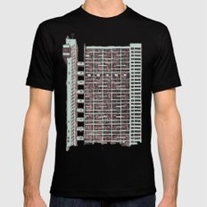 Brutalist Architecture Trellick Tower  Mens Fitted Tee Black SMALL