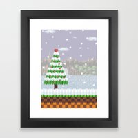 Green Hill Christmas Framed Art Print