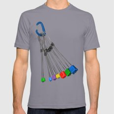 Rock Climbing Wires Mens Fitted Tee Slate SMALL