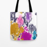 Abstract Flowers - Water… Tote Bag