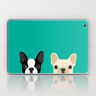 Boston Terrier & French … Laptop & iPad Skin