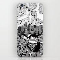 Boston City Skyline Blac… iPhone & iPod Skin