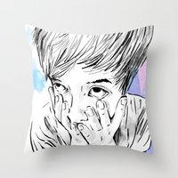 facemelt Throw Pillow