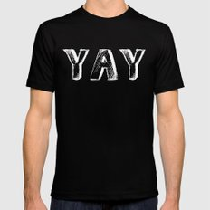 Yay Black Mens Fitted Tee SMALL