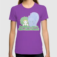 Summons are a Girl's Best Friend Womens Fitted Tee Ultraviolet SMALL