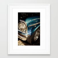 Chevy Nova SS - Part of the Vintage Car Series Framed Art Print