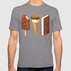 Ice Cream Novelties Pattern Mens Fitted Tee Tri-Grey SMALL