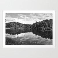 Clouds On The Lake Art Print