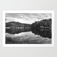 Clouds On The Lake Art Print