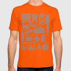 Useful Facts (On Black) Mens Fitted Tee Orange SMALL