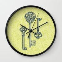 Three Skeleton Keys Wall Clock