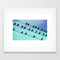 Birds & Lines #2 Framed Art Print