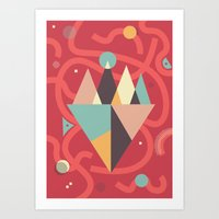 Mountains Floating In A … Art Print