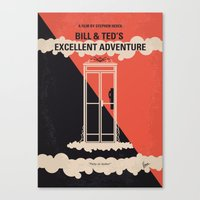 No490 My Bill and Teds Excellent Adventure minimal movie poster Canvas Print