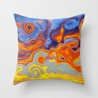 STORM CENTRES Throw Pillow