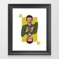 Walter White King Of Hea… Framed Art Print
