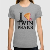 I Love Twin Peaks (Cherry Pie) Womens Fitted Tee Tri-Grey SMALL