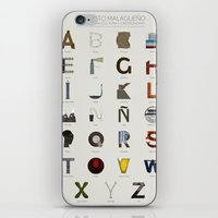 Alfabeto malagueño © iPhone & iPod Skin
