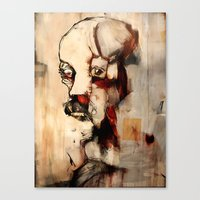 Portrait of a Distracted Man Canvas Print