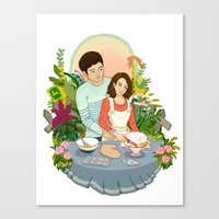 We Make A Cute Couple Canvas Print