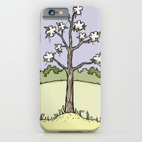 iPhone & iPod Case featuring White Flower Tree by Stephanie Smith