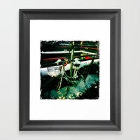 Bicycling In The Snow Framed Art Print