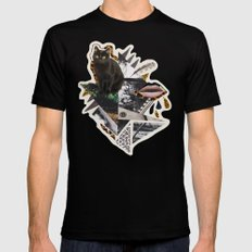 AYAHUASCA CAT Mens Fitted Tee Black SMALL