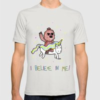 I believe in me! Mens Fitted Tee Silver SMALL