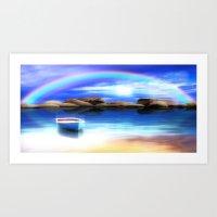Unter dem Regenbogen Art Print