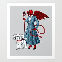 Devil With A Blue Dress On Art Print