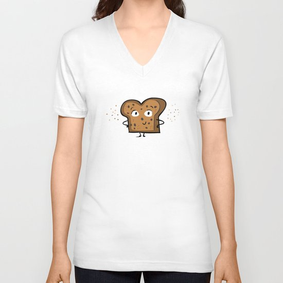 Cinnamon Raisin Toast V-neck T-shirt