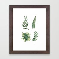 greenery Framed Art Print