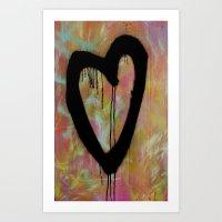 Livid Heart Art Print