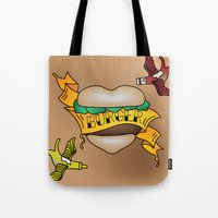 Burger Tattoo Tote Bag