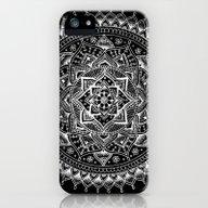 White Flower Mandala On … iPhone (5, 5s) Slim Case