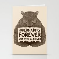 Hibernating Forever Stationery Cards