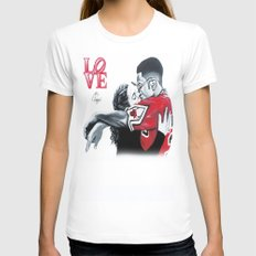 Black Love- Dwayne & Whitley Womens Fitted Tee White SMALL
