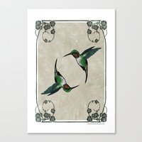 The Humming birds Canvas Print