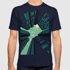 Solitary Dream Mens Fitted Tee Navy SMALL