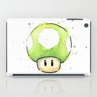 1UP Mushroom Painting iPad Case