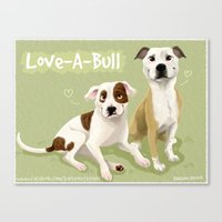 Love-A-Bull Pit Bull Canvas Print
