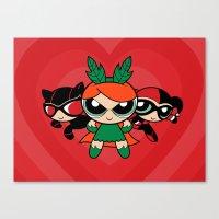 Supervillain Girls Canvas Print