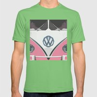 Pink Love Bus Redux Mens Fitted Tee Grass SMALL