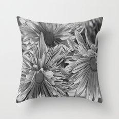 Flowers shadows Throw Pillow