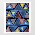 Collage Triangle Pattern Art Print