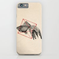iPhone & iPod Case featuring Fish In Geometrics III by Speakerine / Florent Bodart