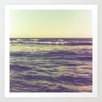 Waves Ver.vintage Art Print